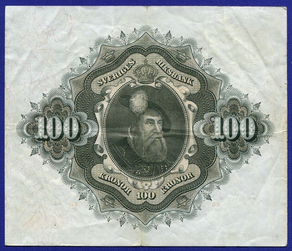 Швеция 100 крон 1961 VF - 1