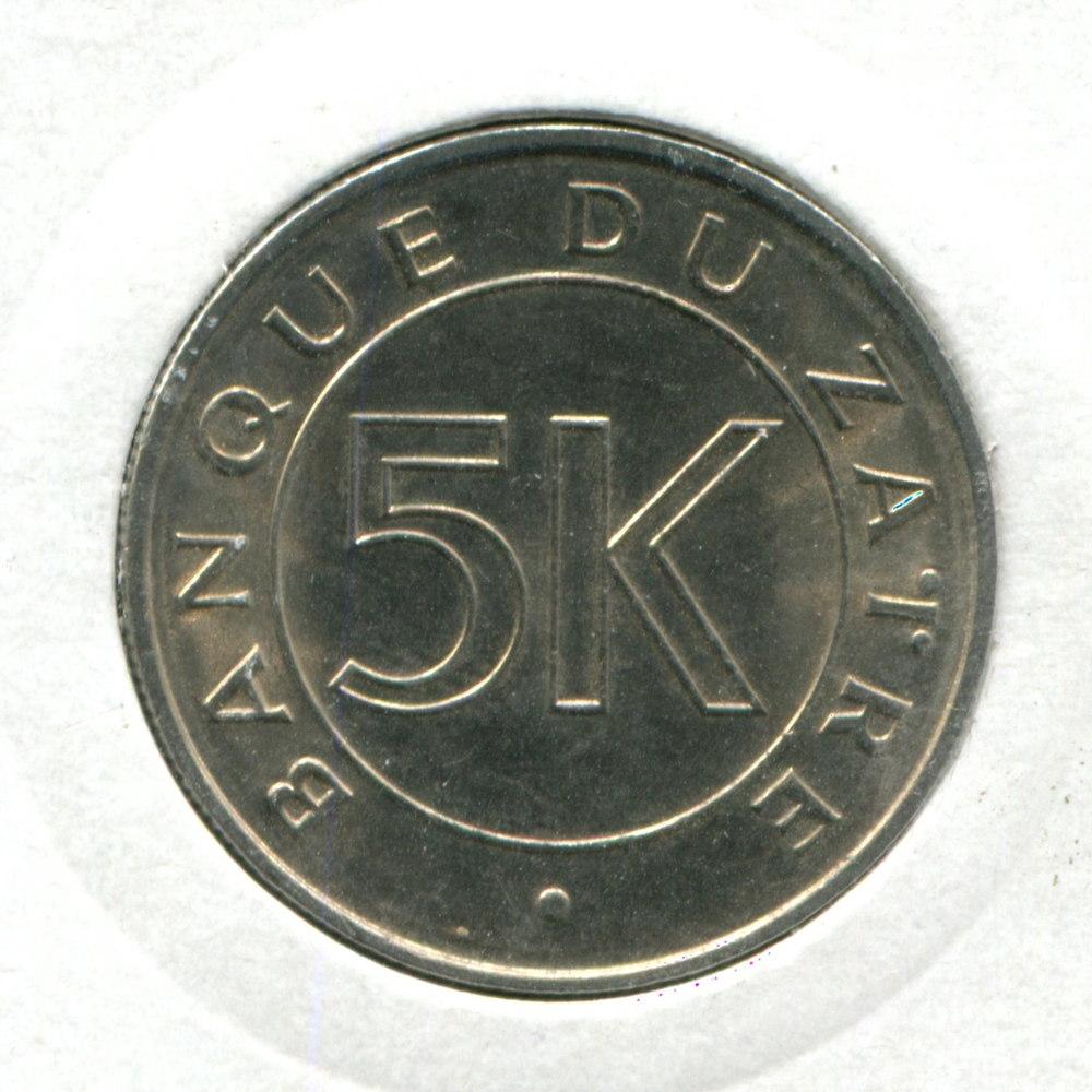 Заир 5 макут 1977 UNC  - 1