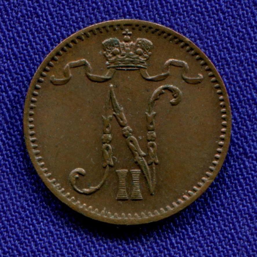 Николай II 1 пенни 1907 aUNC - 1