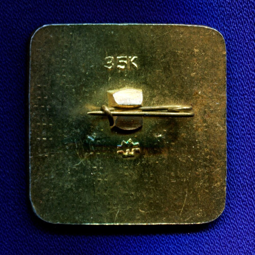 Спортивный значок «Олимпиада-80 Мишка» Алюминий Булавка - 1