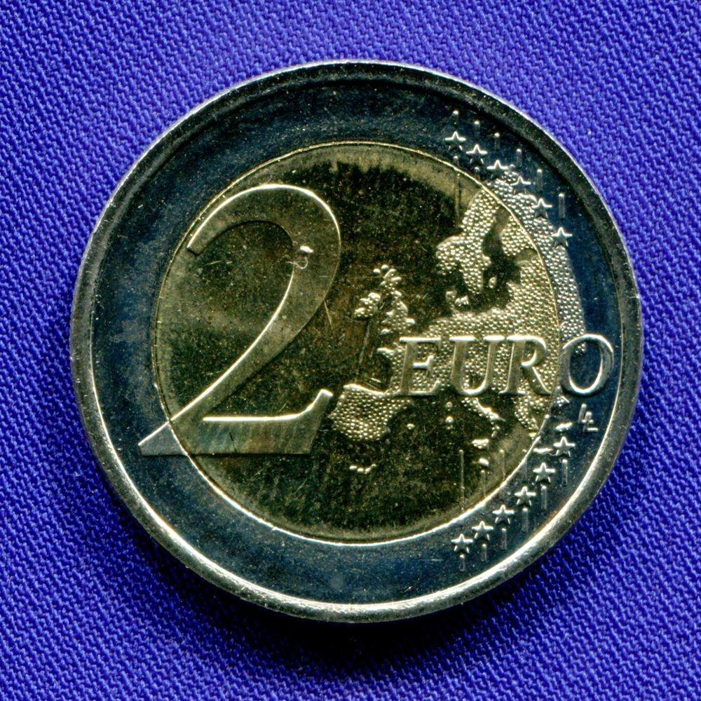 Финляндия 2 евро 2014 UNC Туве Янсон  - 1