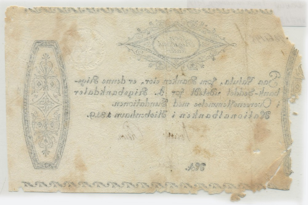 Дания 1 риксбанкдалер 1819 GVF - 1