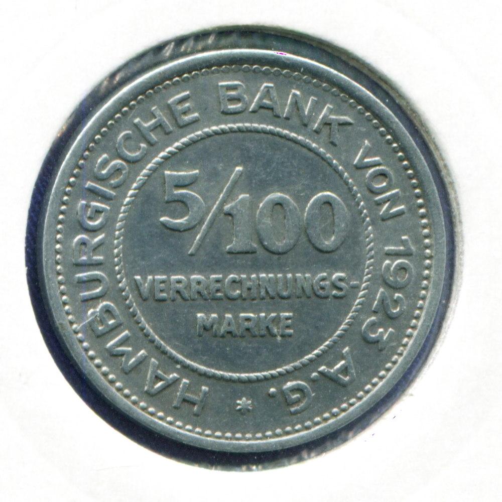 Германия/Гамбург 5/100 марки 1923 GVF  - 1