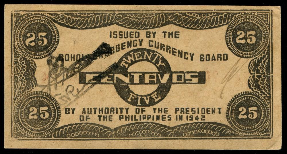 Филиппины 25 сентаво 1942 - 1