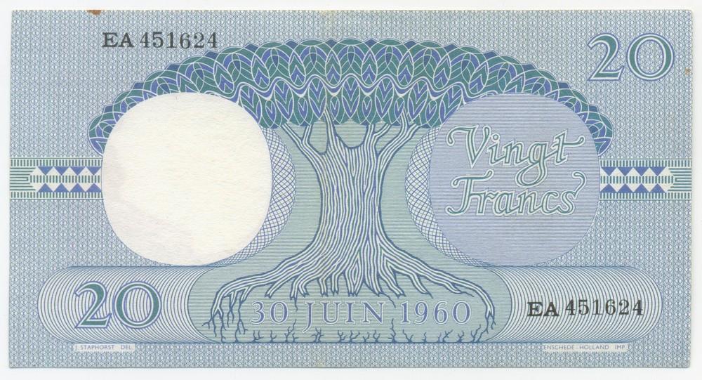 Демократическая Республика Конго 20 франков 1962 - 1