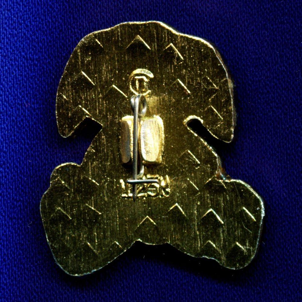 Детский значок «Зайчик» Легкий металл Булавка - 1