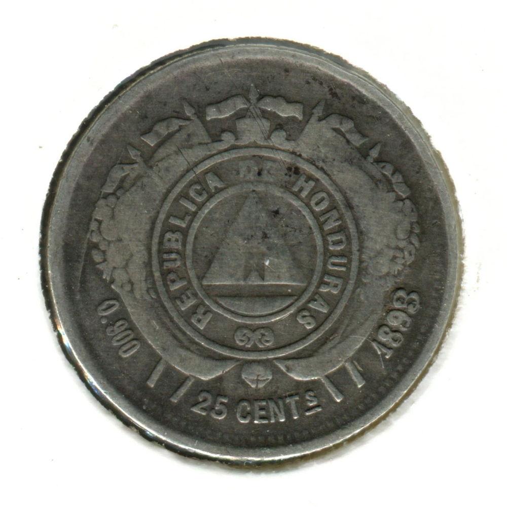Гондурас 25 сентаво 1893 (83) F #50 - 1