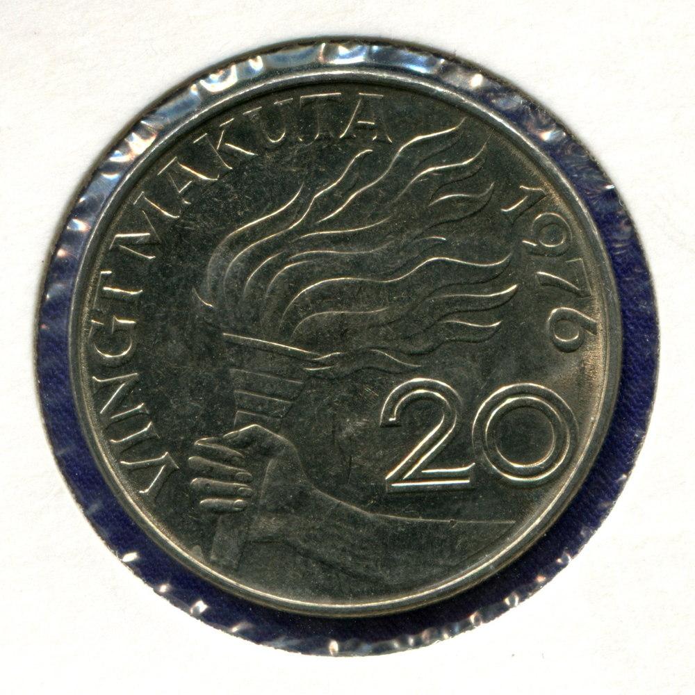 Заир 20 макута 1976 UNC  - 1