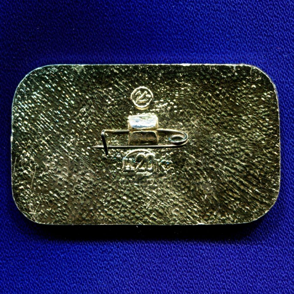 Значок «ЯК-12А Гражданская Авиация СССР» Алюминий Булавка - 1
