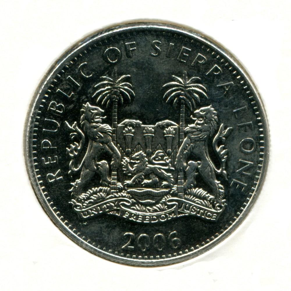 Сьерра-Леоне 1 доллар 2006 aUNC Трицератопс  - 1