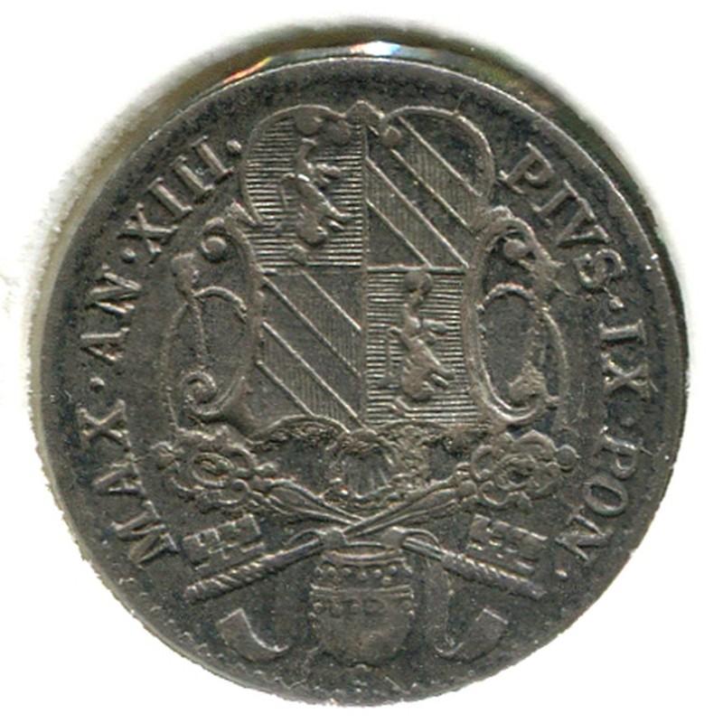 Ватикан 5 байокки 1858R-XIII #1341B GVF - 1