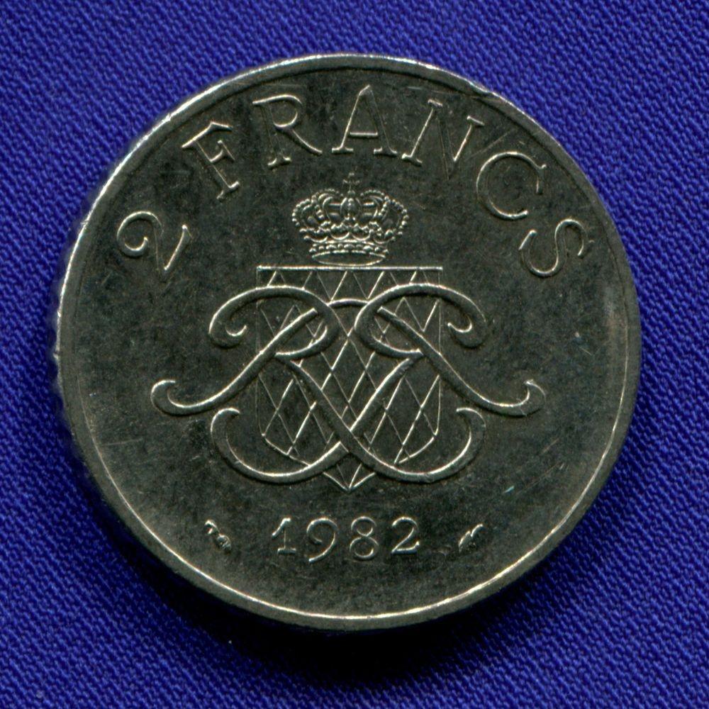 Монако 2 франка 1982 aUNC  - 1