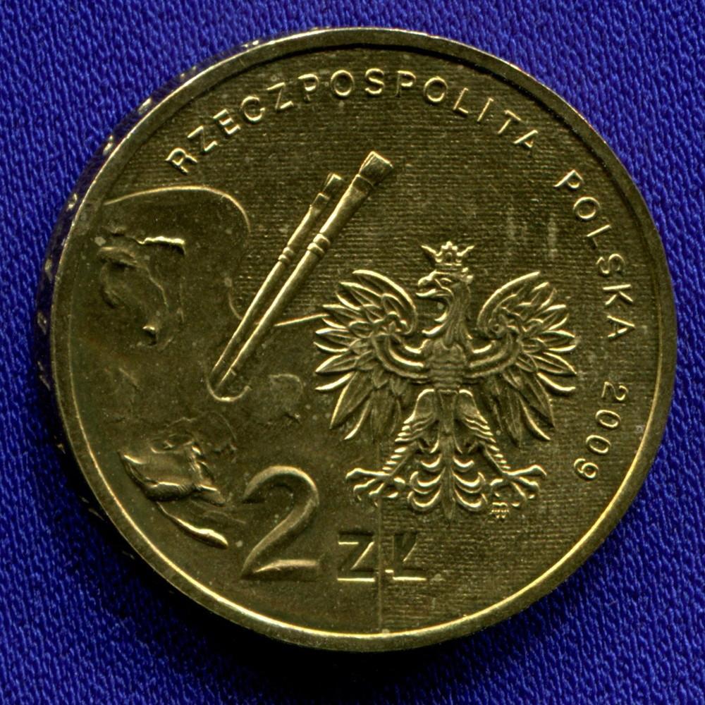 Польша 2 злотых 2009 UNC Владислав Стржеминский - 1