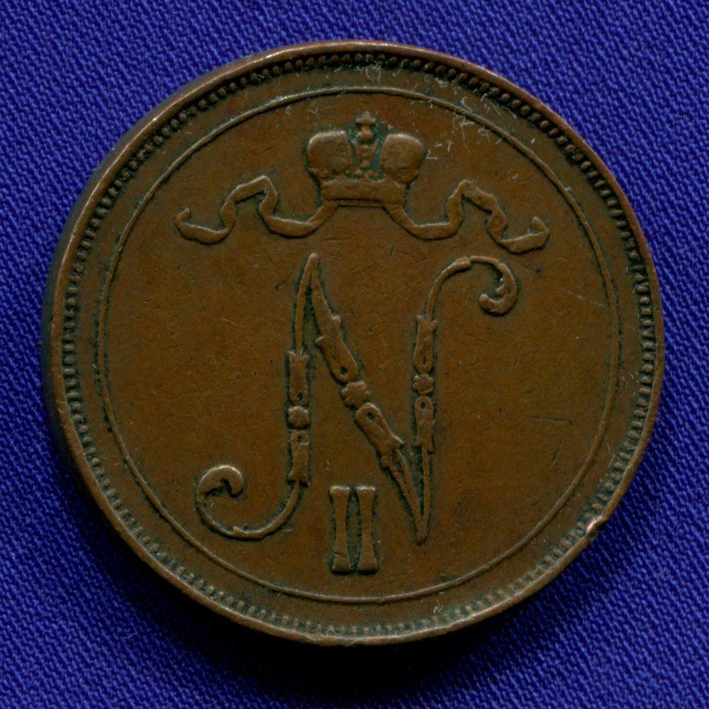 Николай II 10 пенни 1908 XF- - 1