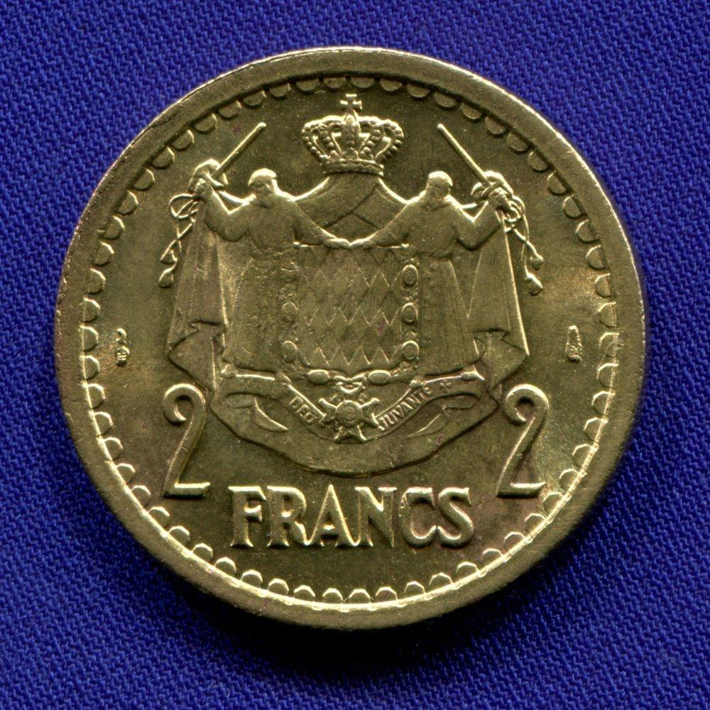 Монако 2 франка 1945 XF  - 1