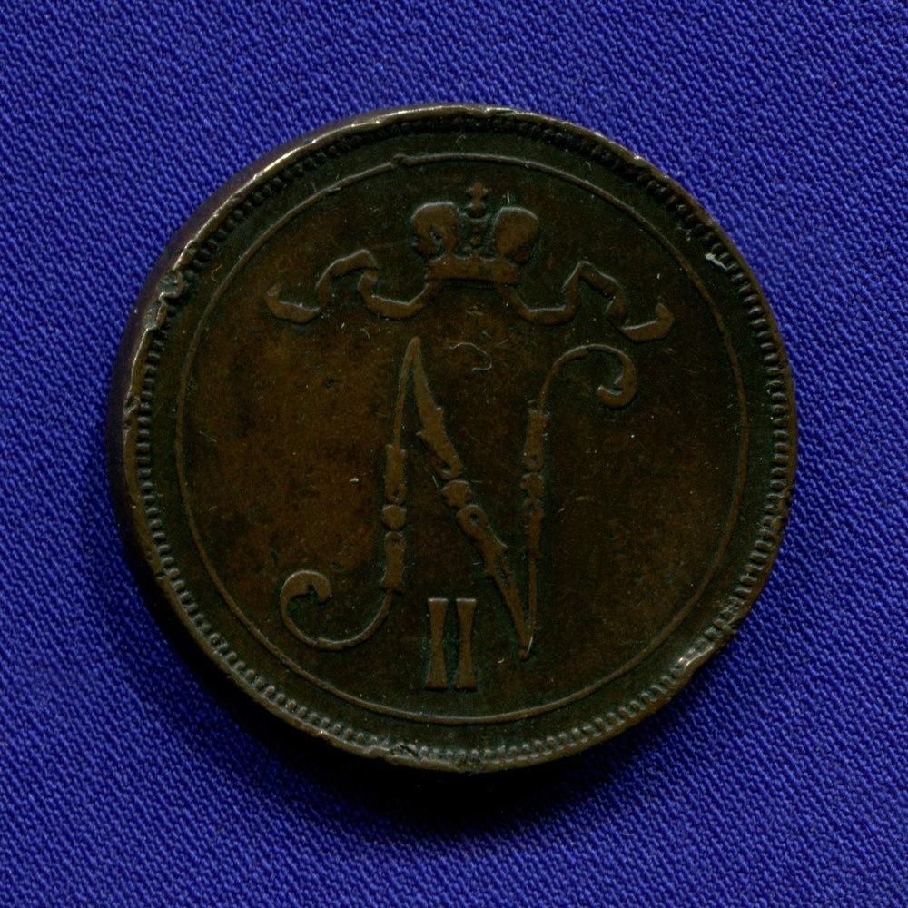 Николай II 10 пенни 1895 VF+ - 1