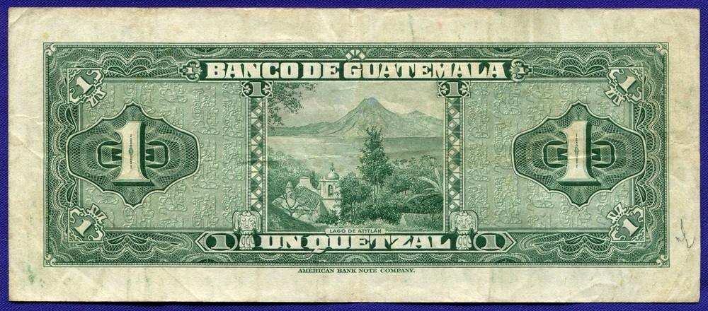 Гватемала 1 Кетсаль 1954 #24a VF - 1