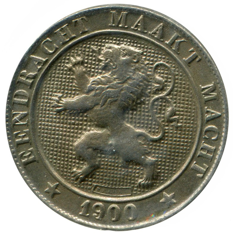 Бельгия 5 сантимов 1900 #40 aUNC - 1