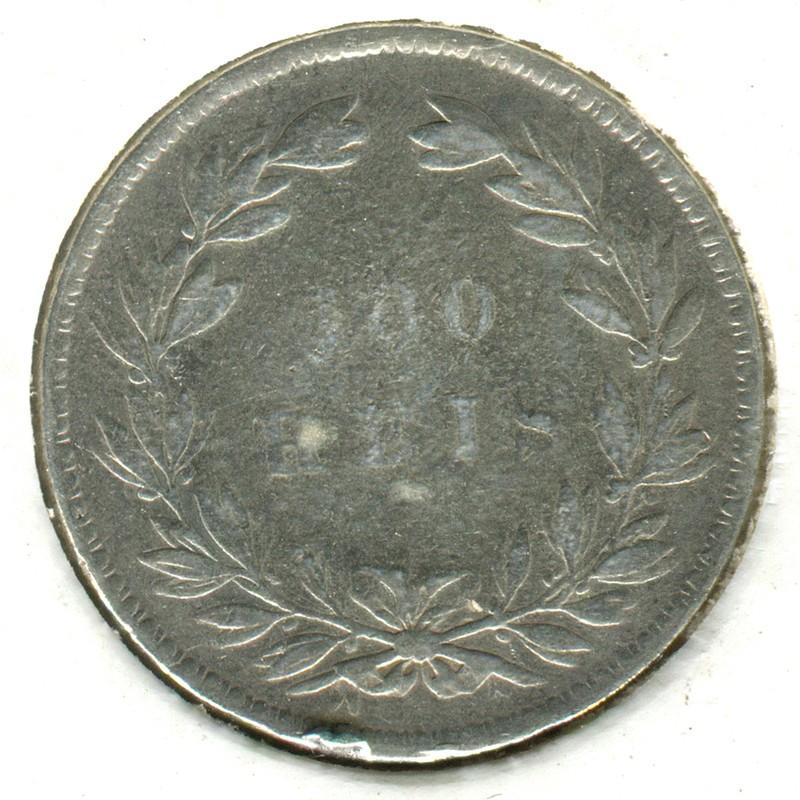 Португалия 100 рейсов 1861 #497 - 1