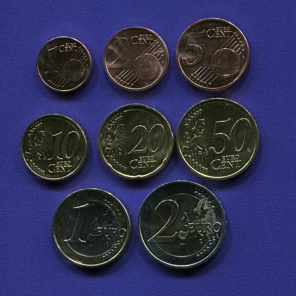 Набор монет Латвии EURO 8 монет 2014 UNC - 1