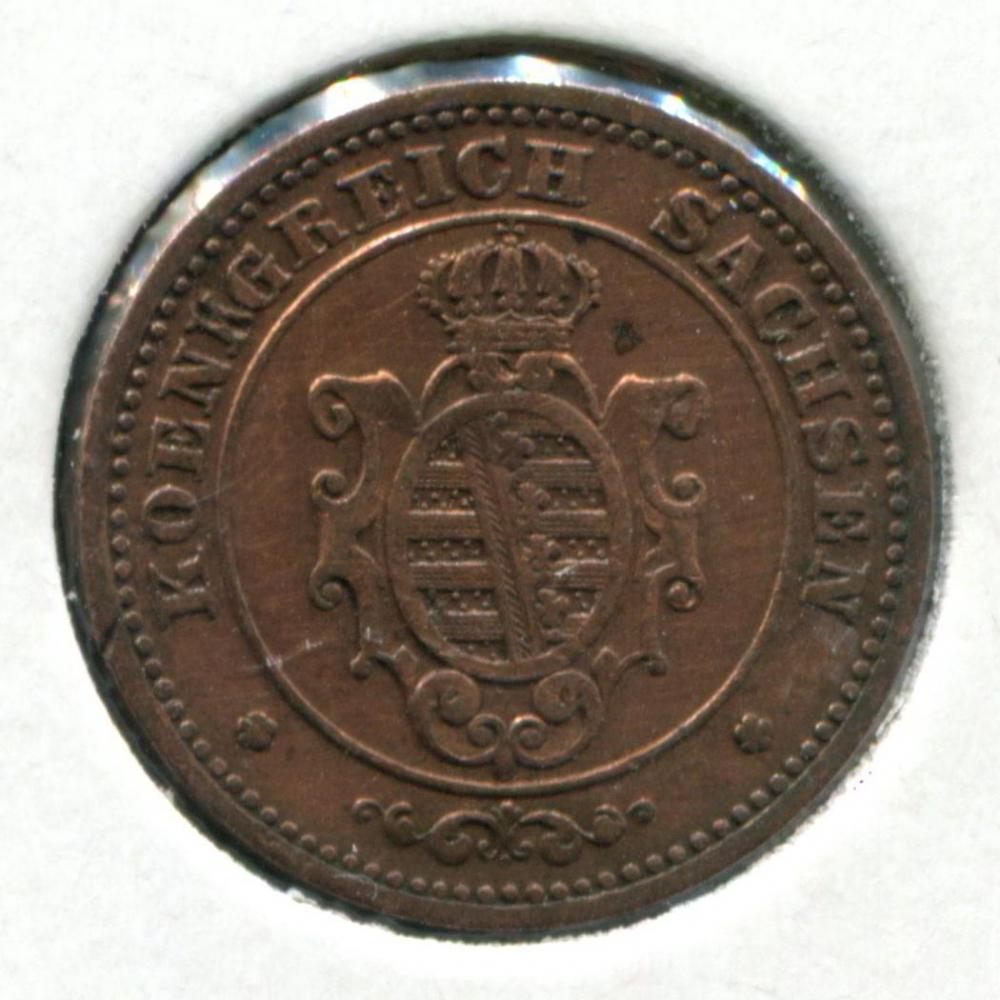 Германия/Саксония 2 пфенинга 1864 VF  - 1