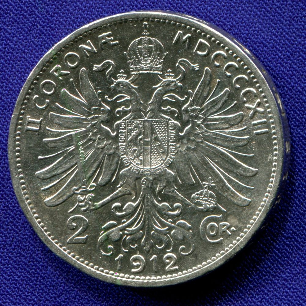 Австрия 2 короны 1912 XF  - 1