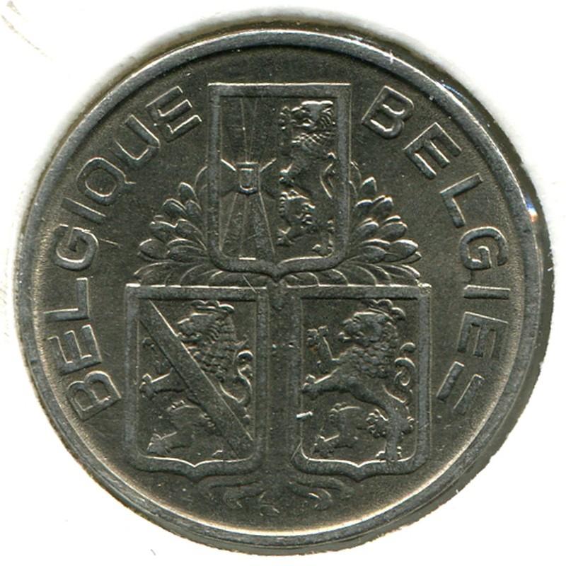 Бельгия 1 франк 1939 #119 - 1