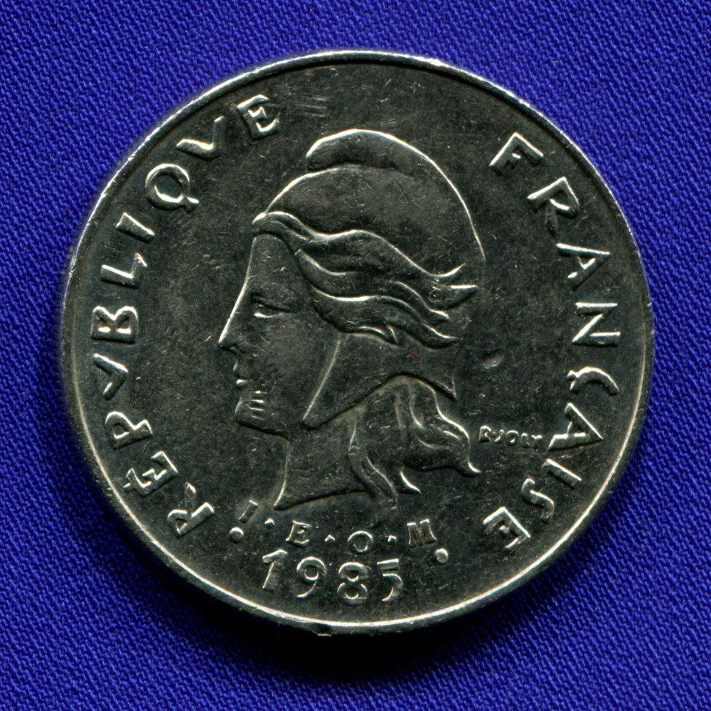 Франузская Полинезия 50 франков 1985 VF  - 1