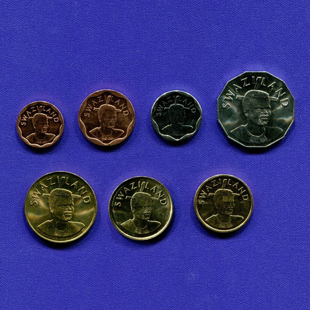 Свазиленд набор - 7 монет 1999 - 2011 UNC - 1