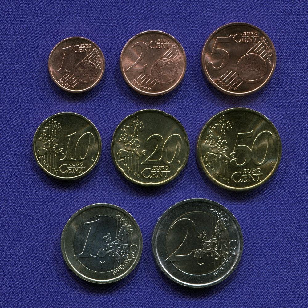 Набор монет Италии EURO 8 монет 2002 UNC - 1