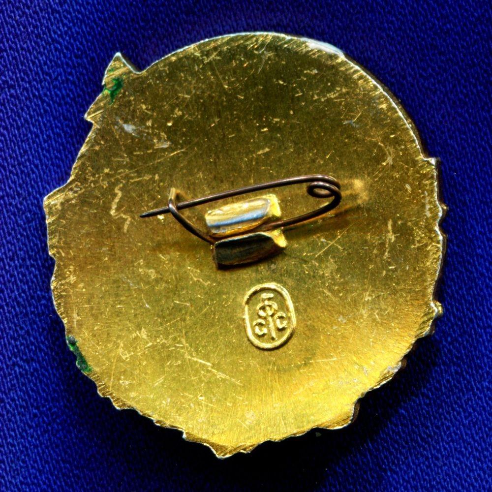 Значок «Всероссийское общество охраны природы» Легкий металл Эмаль Булавка - 1