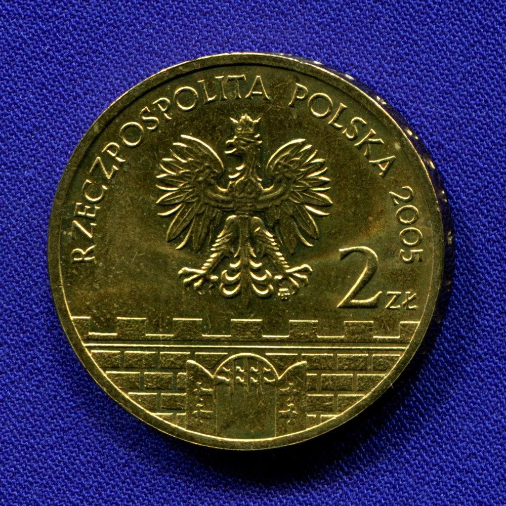 Польша 2 злотых 2005 UNC Влоцлавек  - 1