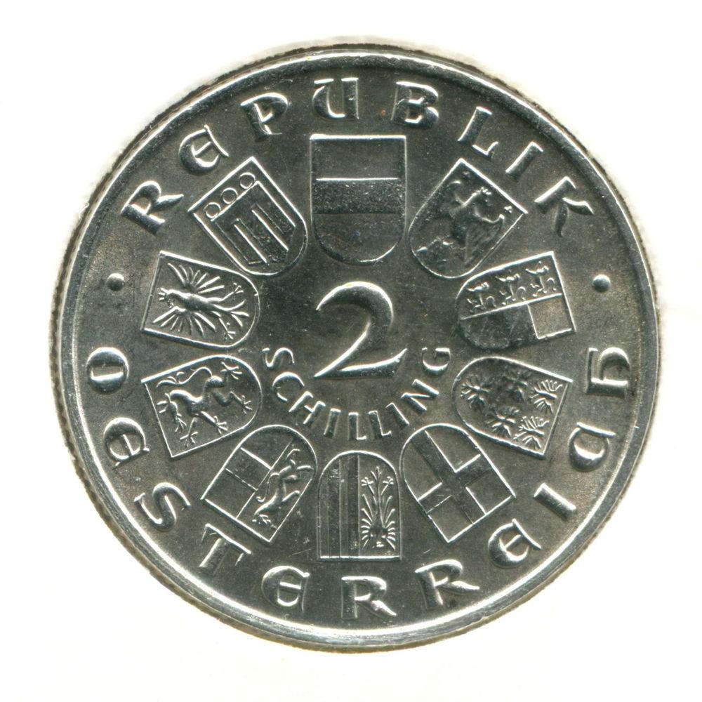 Австрия 2 шиллинга 1929 aUNC #2844 - 1