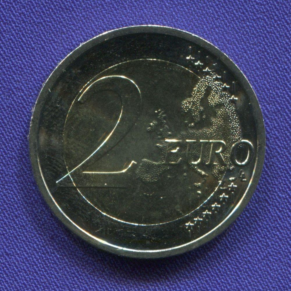 Словакия 2 евро 2017 UNC 550 летие Истрополитанского Университета  - 1