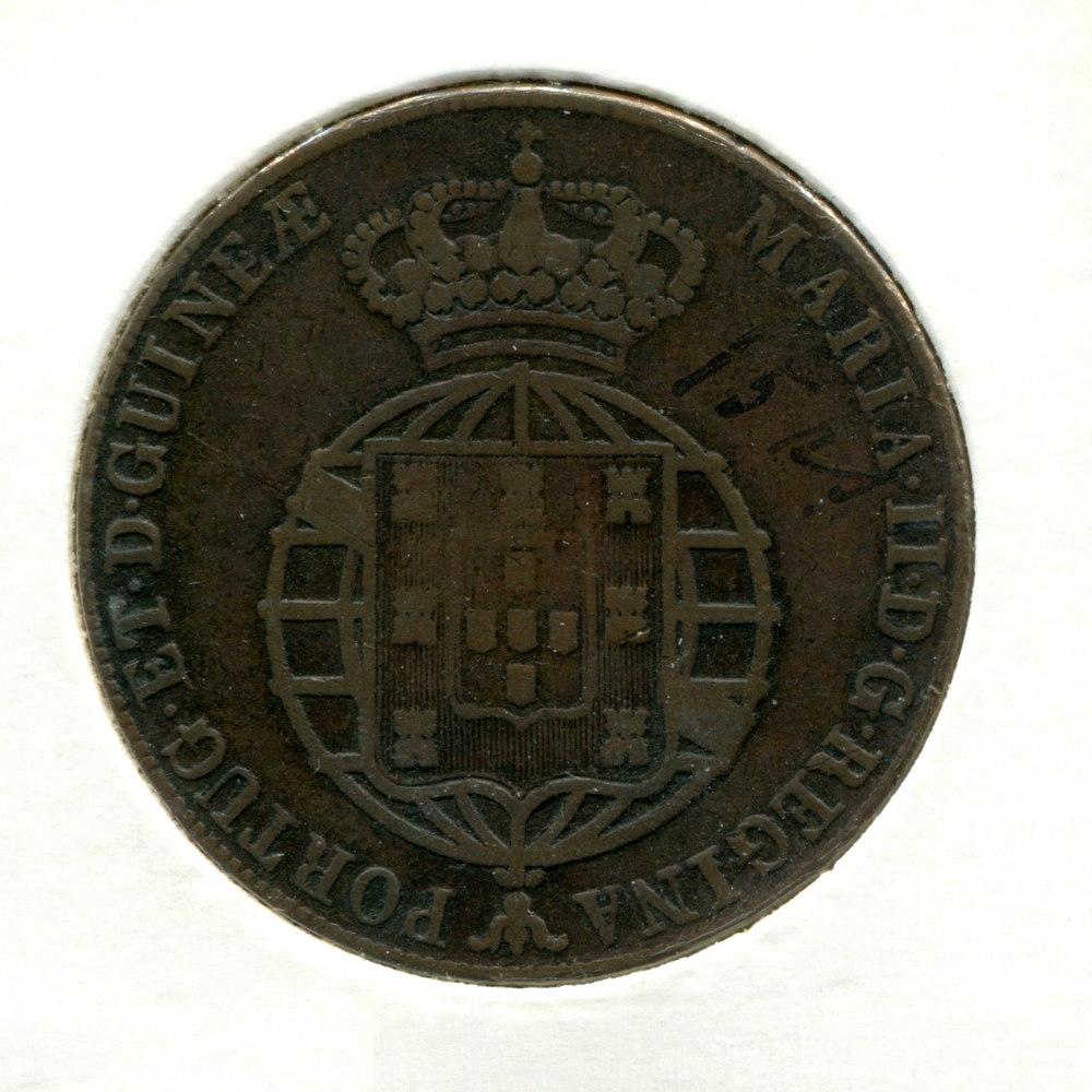 Ангола 1/2 макуты 1851 VF  - 1