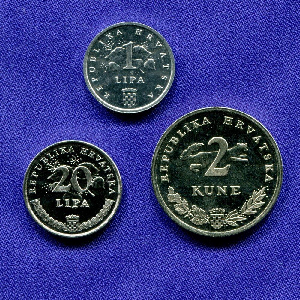 Хорватия набор - 3 монеты 1995 UNC FAO - 1