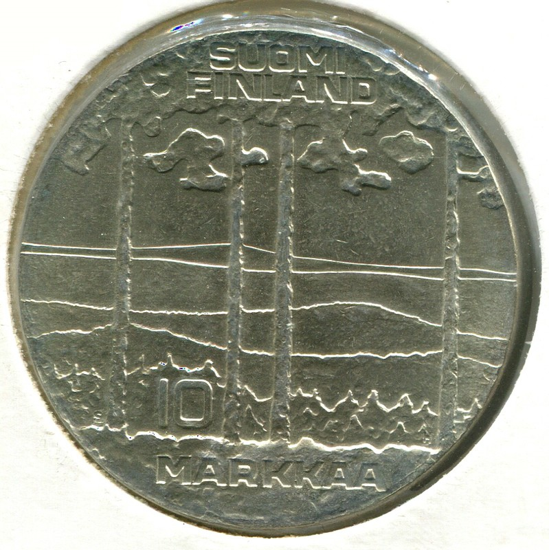 Финляндия 10 марок 1975 #54 UNC - 1