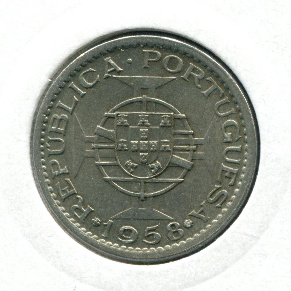 Португальская Индия 1 эскудо 1959 aUNC  - 1