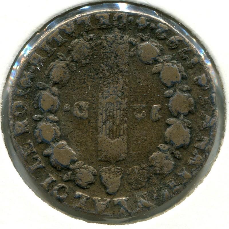 Франция 1-я Республика 12 денье 1792 #600.15 GF - 1