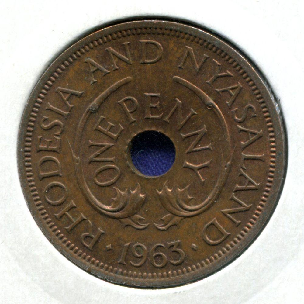 Родезия и Ньясаленд 1 пенни 1963 UNC  - 1