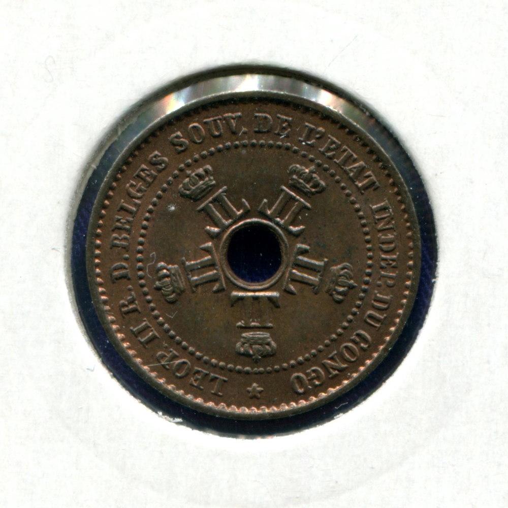 Бельгийское Конго 1 сантим 1888 UNC  - 1