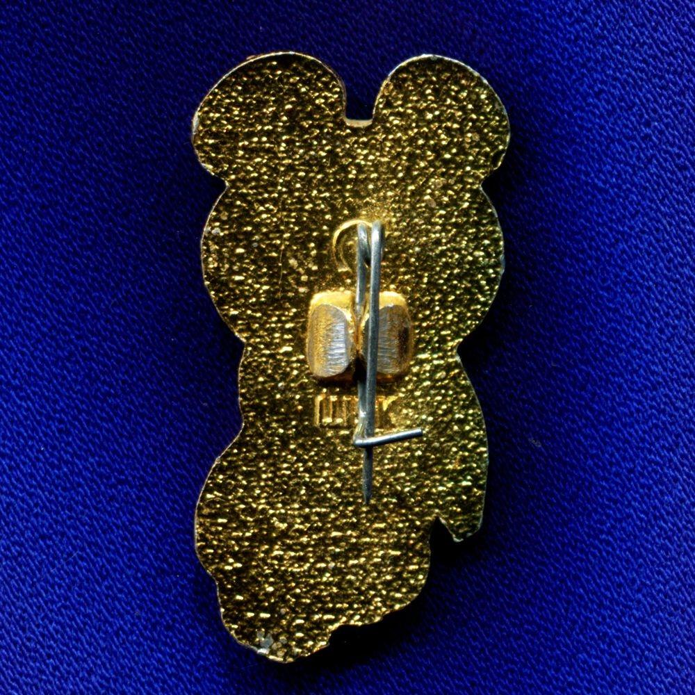 Значок «Олимпийский Мишка» Алюминий Булавка (3,3/1,5 см.) - 1