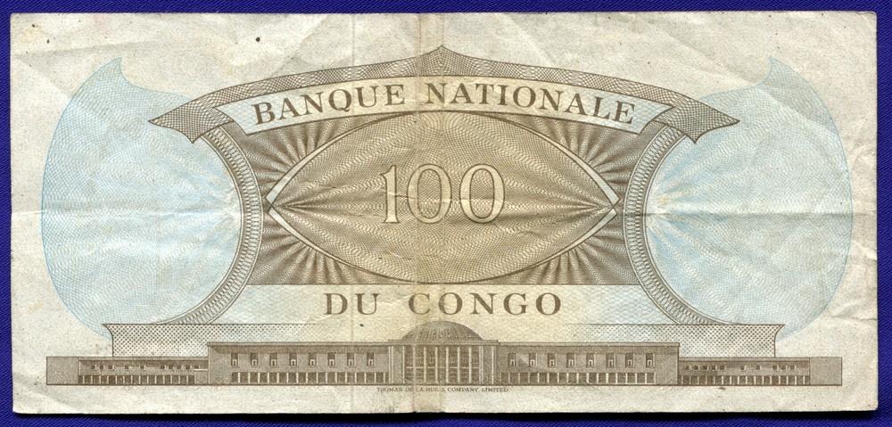 Конго 100 франков ND  VF - 1