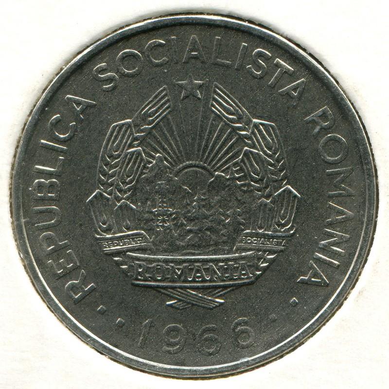 Румыния планирован сталью 3 лея 1966 #96 BU - 1