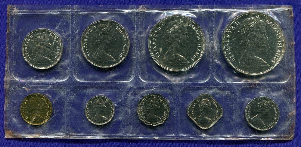 Набор монет Багамских островов 1969 UNC - 1