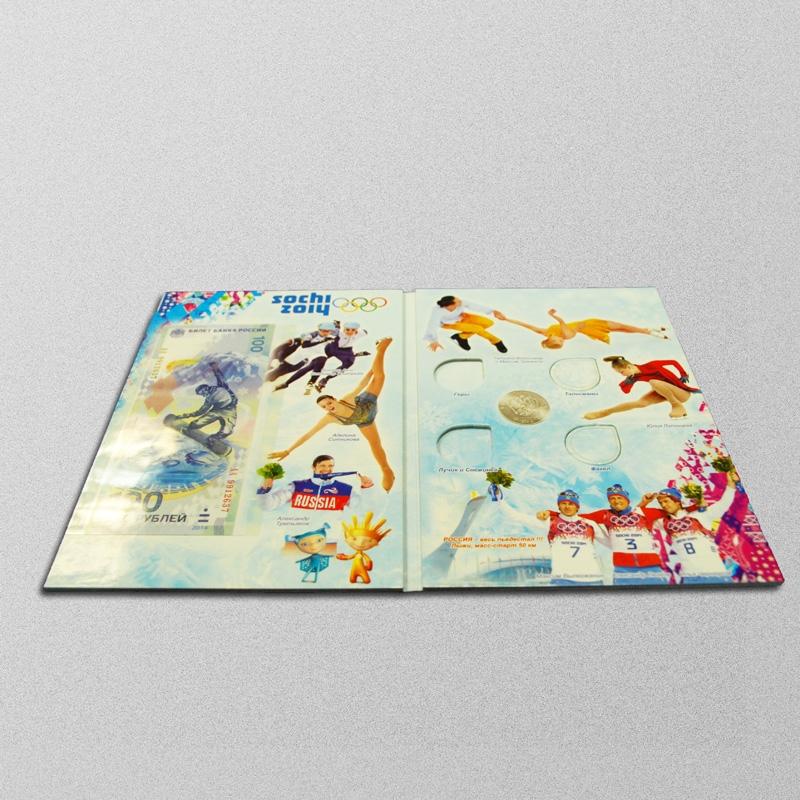 Альбом-планшет для памятных 25-рублёвых монет России 2011-2014 г и 100 рублевой банкноты - 1