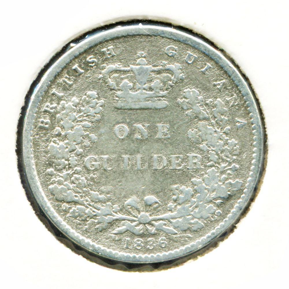 Гайана 1 гульдер 1836 VF - 1