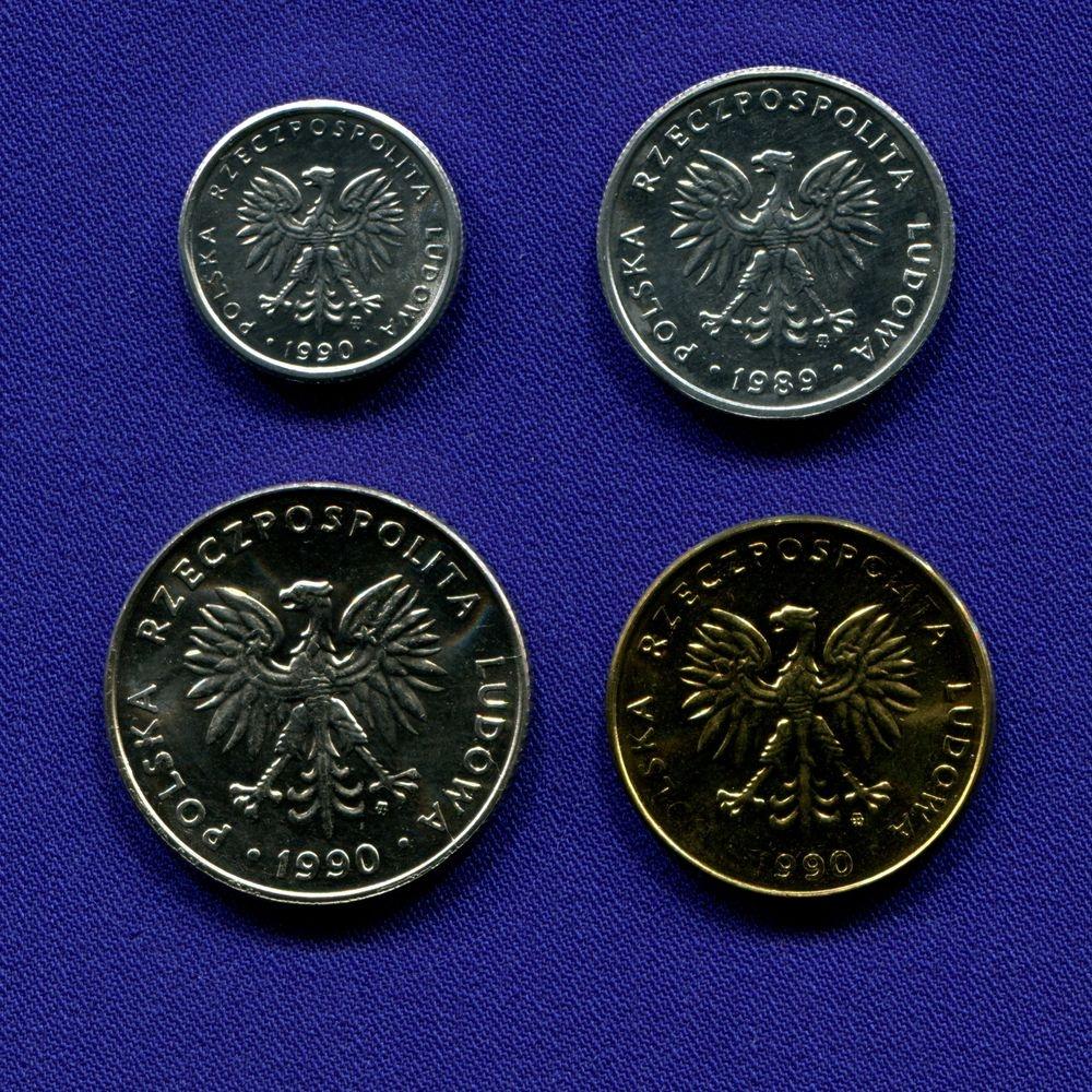 Польша набор - 4 монеты 1989 - 1990 UNC - 1