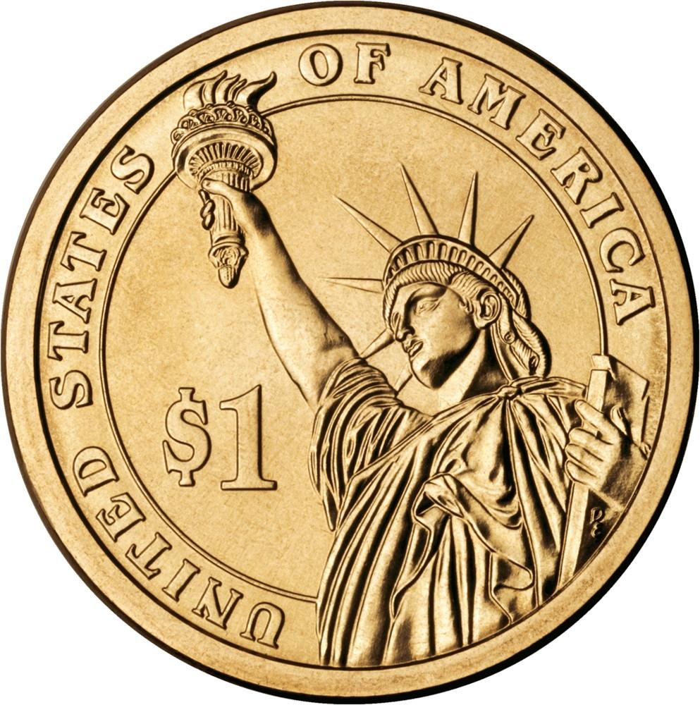США 1 доллар 2012 года президент №23 Бенджамин Гаррисон - 1