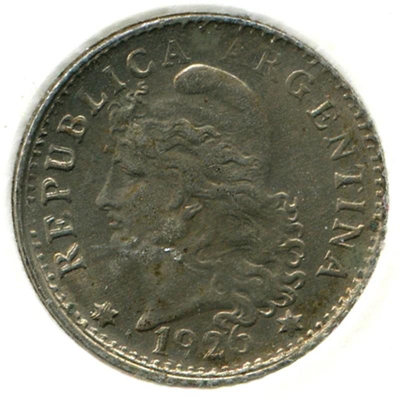 Аргентина 5 сентаво 1926 #34 BU - 1